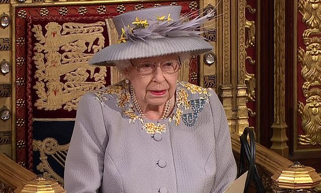 Giving the showpiece address in the House of Lords today, the monarch said that the new law would 'protect freedom of speech'.