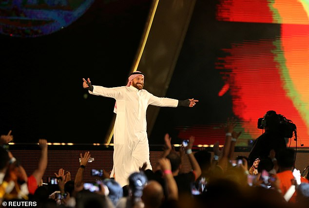 It won't be Fury's first fight in Saudi Arabia, having made a WWE appearance in the country