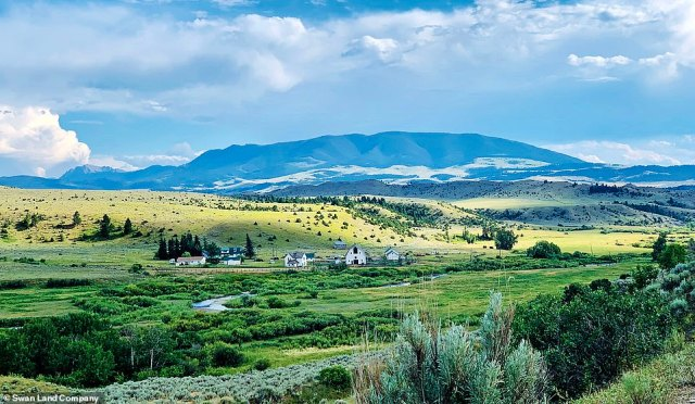 The Climbing Arrow Ranch in Montana (pictured) that was the backdrop to the 1992 Richard Redford film 'A River Runs Through It' has sold for $135 million, making it one of America's most expensive homes