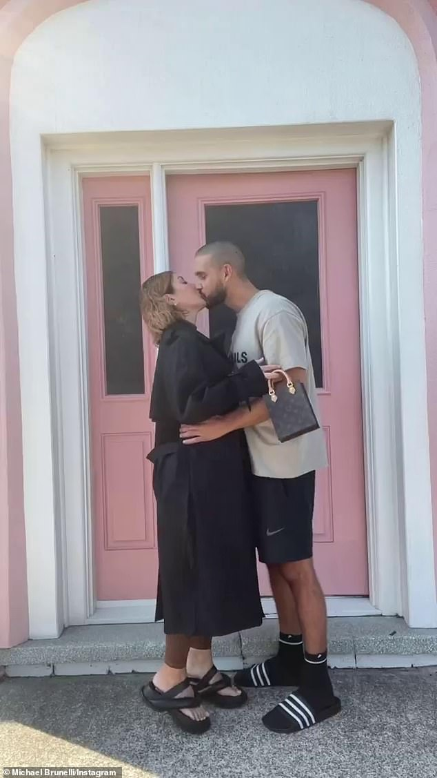 Ice cold:Married At First Sight stars Martha Kalifatidis (left) and Michael Brunelli (right) have starred in a cringey promotion for ice-cream