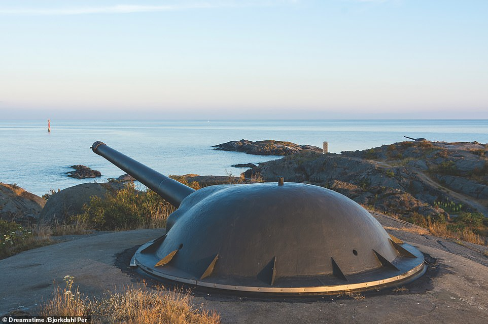 LANDSORT COASTAL ARTILLERY BATTERY, OJA, SWEDEN: 'Although Sweden was a neutral country in World War II, the European tensions of the 1930s and the onset of war in 1939 meant that it took its defence seriously,' says McNab. 'Here we see 152mm caemated guns on the island of Oja, emplaced during the late 1930s. Oja was the home of coastal batteries until 2007'