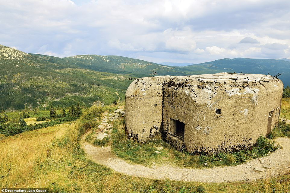 BUNKER, BUSH-KRKONOSE, CZECH REPUBLIC: According to McNab, the mountainous borderlands between Czechoslovakia and Poland offered good terrain for elevated defensive positions. He writes: 'This Czech Army hilltop bunker was likely built during the 1930s, in what is today the Krkonose Mountains National Park'