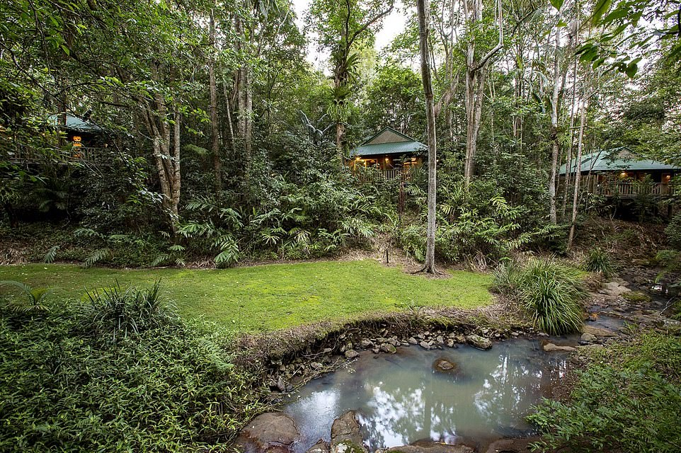 The Narrows Escape Rainforest Retreat in Queensland, Australia, pictured, takes the title of best romance hotel