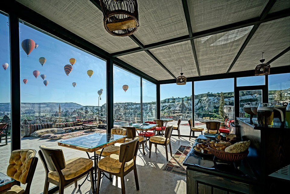 Arinna Cappadocia, pictured,claims the gold medal in the 'hottest new hotel' category with one guest calling it 'more than perfect' on Tripadvisor