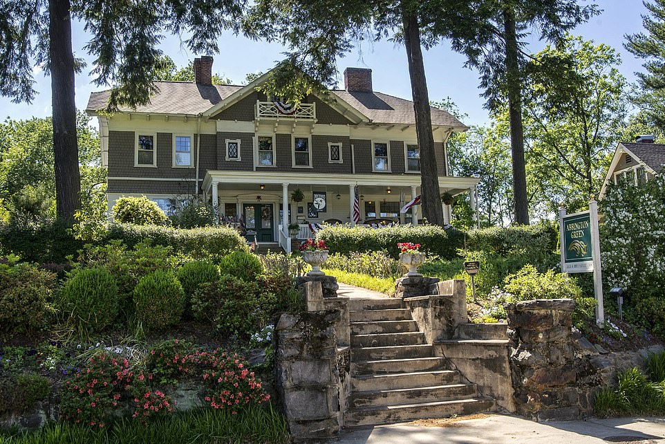 Abbington Green Bed & Breakfast Inn and Spa in North Carolina, pictured, comes seventh in the best B&B in the world list