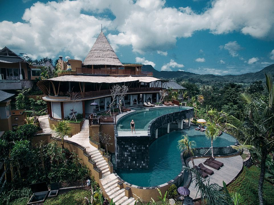 Taking sixth place in the 'picture-perfect hotel' category is Wapa di Ume Sidemen, pictured, in Bali, Indonesia