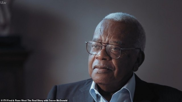 Veteran broadcaster Trevor McDonald (pictured) made a previous documentary about Fred West for ITV called Fred and Rose West: The Real Story. He is now filming a new documentary