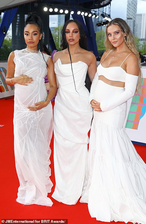 Gorgeous: Little Mix wowed on the red carpet in their stunning and matching ensembles