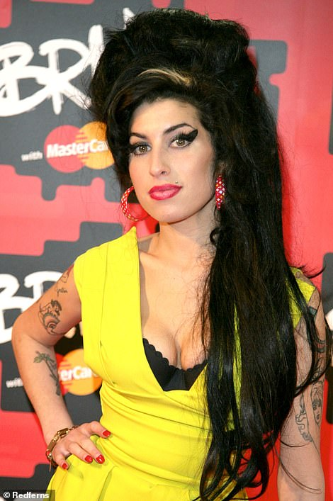Tribute: Amy pictured at the BRIT Awards in2007