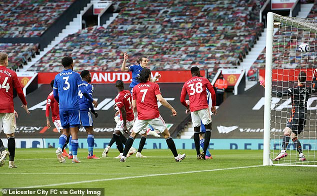 United's Premier League title bid ended on Tuesday evening after Caglar Soyuncu's (back) second half header saw them lose 2-1 to Leicester City at Old Trafford