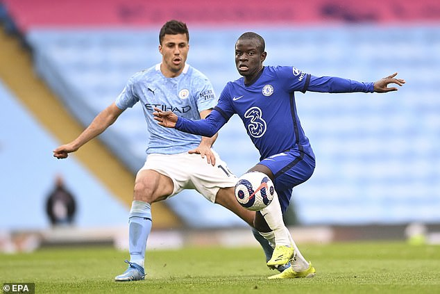 Chelsea will also look to tie down N'Golo Kante (right) as he enters the last two years of his deal