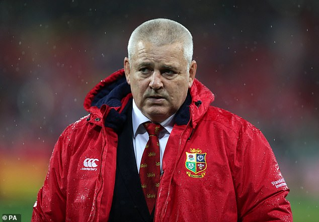 Warren Gatland and his Lions squad have taken pay cuts ahead of the South Africa tour