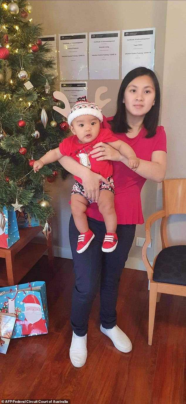 Baby Hoang pictured with motherLyn Kim Do before the 10-month-old's disappearance from a Canberra medical clinic in April