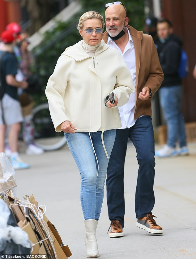 Model: Yolanda Hadid proved she hasn't lost her sense of style when she was seen in New York this week with her silver fox Joseph Jingoli