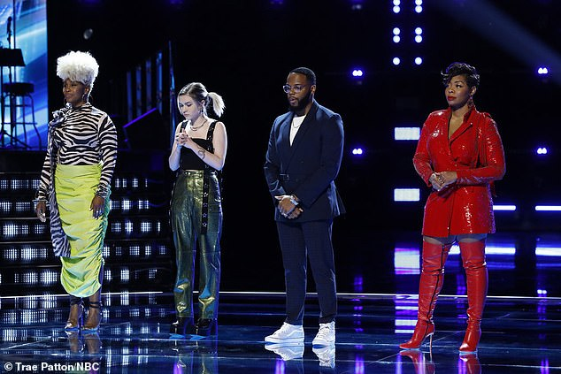 Formidable team:Pia Renee, Ryleigh Modig, Victor Solomon and Zania Alake started the show on the team of John Legend