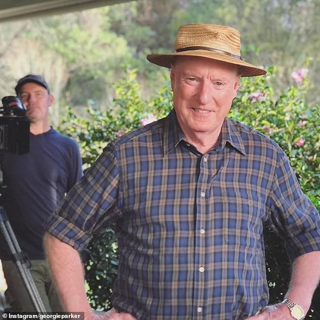 Legend: Ray Meagher, 76, discussed the possibility of potentially retiring during an interview with Fitzy and Wippa