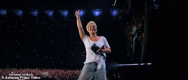 Documentary: In her new documentary Pink: All I Know So Far,Pink, 41, reveals she is worried her children will one day 'see through the act'