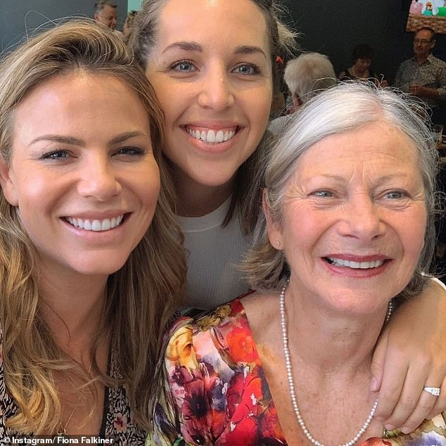 Brave: Former Biggest Loser star Fiona Falkiner has revealed the heartbreaking health challenges of her mother's battle withAlzheimer's disease. Here: Fiona, Hayley and her mother