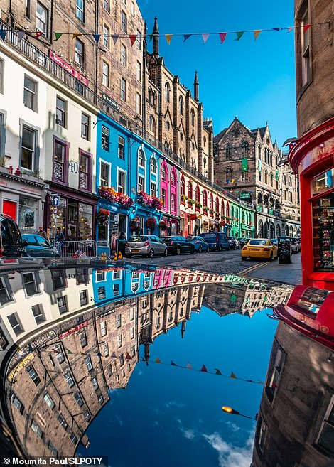 The winner of the urban category was Moumita Paul with this amazing image of the reflection of colourful houses on a car roof on Edinburgh's famous Victoria Street