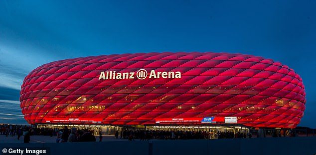 The Allianz Arena in Germany will host three Group F matches as well as a quarter-final clash