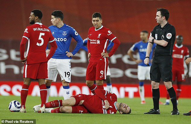Henderson sustained the injury in Liverpool's defeat against Everton at Anfield in February
