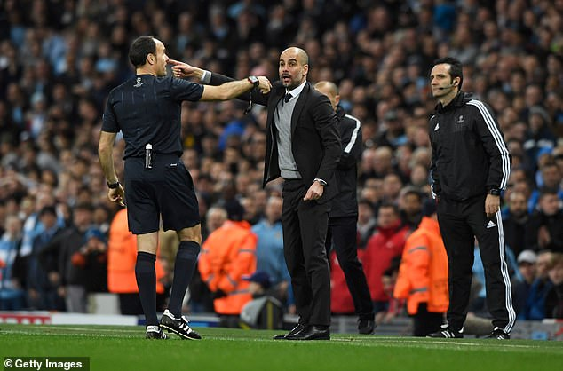 Guardiola was also unimpressed with Lahoz's performance against Monaco the previous year