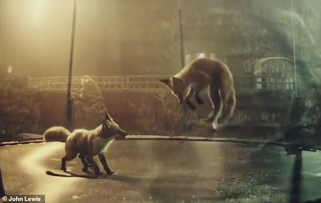 The 2016 John Lewis Christmas advert featured a pair of foxes bouncing on a newly assembled trampoline