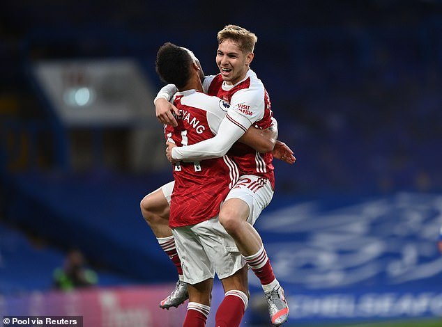 However, Arsenal latched onto the mistake and scored through youngster Emile-Smith Rowe