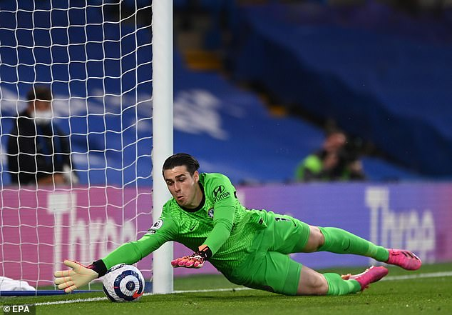 The Chelsea midfielder's back pass was aimed goalwards and Kepa just kept the ball out of net