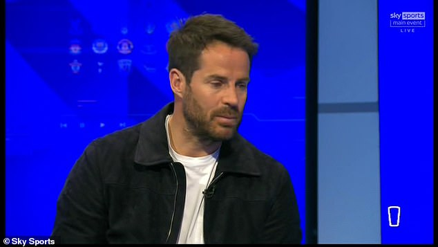 Jamie Redknapp reflected that you 'never' pass the ball between the width of the goal posts