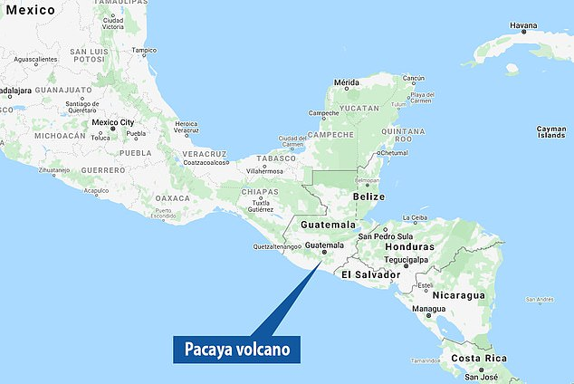 Pacaya is one of Guatemala's three active volcanoes and its eruptions can be seen from Guatemala City, approximately 24 km away.