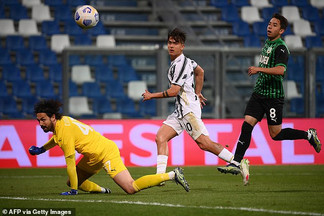 Paulo Dybala also reached a century of Juventus goals by netting the third late on