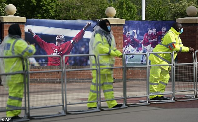 Security has been tightened around Old Trafford to ensure their Liverpool clash goes ahead
