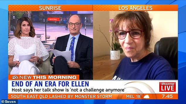 Not mincing words: Appearing on Australian breakfast show Sunrise, award-winning producer Hedda Muskat (right) said Ellen's show was destined for failure because she'd misled her fans into believing she was a 'nice person'