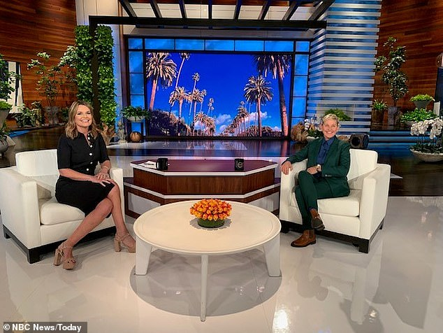 Not invigorating: Ellen confirmed the news to The Hollywood Reporter: 'When you're a creative person, you constantly need to be challenged — and as great as this show is, and as fun as it is, it's just not a challenge anymore'; seen with Savannah Guthrie on Wednesday