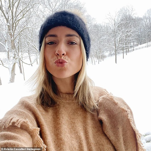 Sealed with a kiss! When asked about the rumored kiss by DailyMailTV's Alicia Quarles, Kristin replied: 'I didn't kiss Brody and I hope fans are not tuning in thinking they are going to see that because they are going to be sorely disappointed'