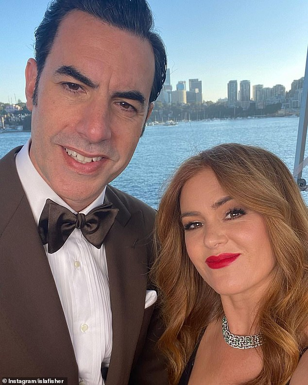 Hollywood stars Down Under: Sacha is currently living in Sydney with his actress wife Isla Fisher (right) and the couple's three children