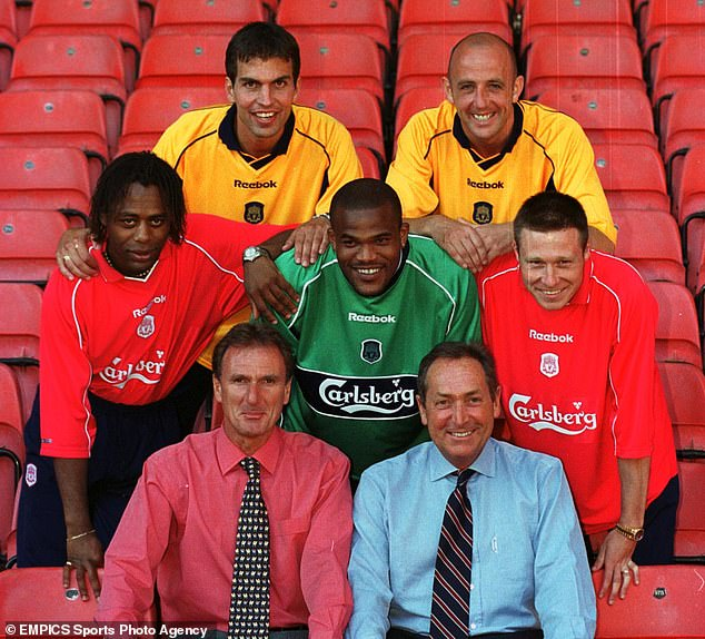 Pegguy Arphexad (centre) arrived with a host of stellar new signings under Gerard Houllier
