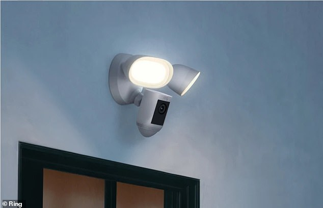 A Ring security light and camera: What should you do if you are worried neighbours could see in your home?