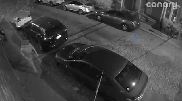 'Drunk' man is seen unlocking his car before climbing into an identical vehiclein Richmond, Virginia, on the night of Saturday May 1