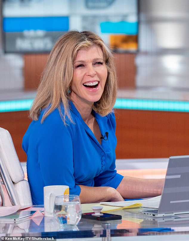 Keeping busy: The Good Morning Britain presenter (pictured on the show on Thursday morning) headed straight from the breakfast news show to her radio show