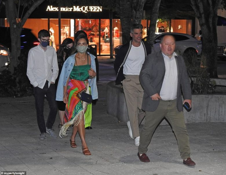 Alba and Warren were later seen stepping out in Miami's Design District, where they splurged on dinner at ZZ's Club, an exclusive sushi bar