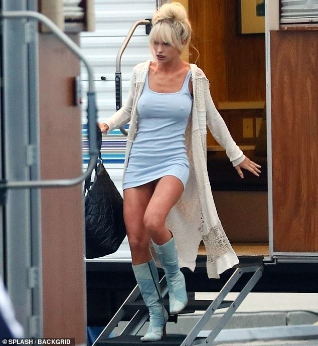 Double Take: Lily looked drastically different from how she had been seen before, as pictured leaving her trailer on set
