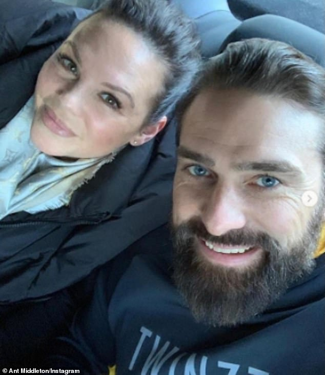 Couple: Ant also detailed how his wife Emilie had asked him about the furore following his exit from SAS: Who Dares Wins (pictured together in 2019)