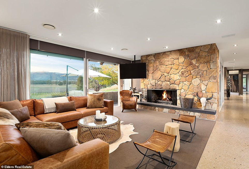 Spread throughout the house are two living spaces (one pictured)