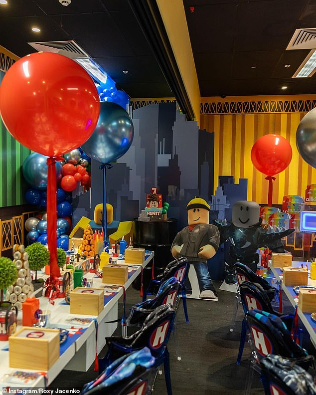 Party time!Roxy and her husband Oliver threw Hunter a fun-filled Roblox themed party at Archie Brothers Cirque Electriq in Alexandria
