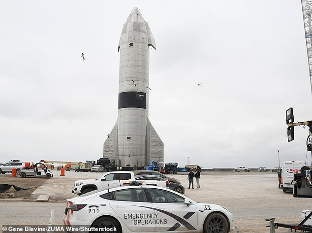 One of the first phases of this ambitious plan is to ensure Starship rockets are fully reusable - and re-flying SN15 (pictured) could be the start. Musk has calculated that to put one million humans on Mars by 2025, his Starship rockets would need to conducted around three flights a day