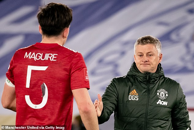 Red Devils manager Ole Gunnar Solskjaer is said to want him to partner Harry Maguire (left)