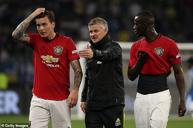 Victor Lindelof (left) and Eric Bailly (right) failed to impress in a 4-2 home loss against Liverpool