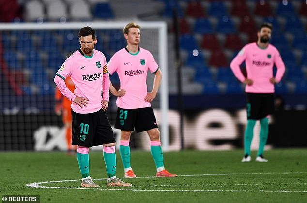 Barcelona have endured a poor season and must rely on slip-ups to have any chance of the title